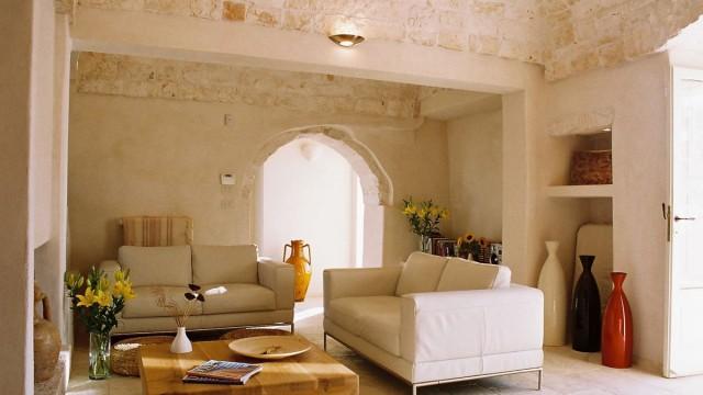 Living room Villa Santoro, Puglia