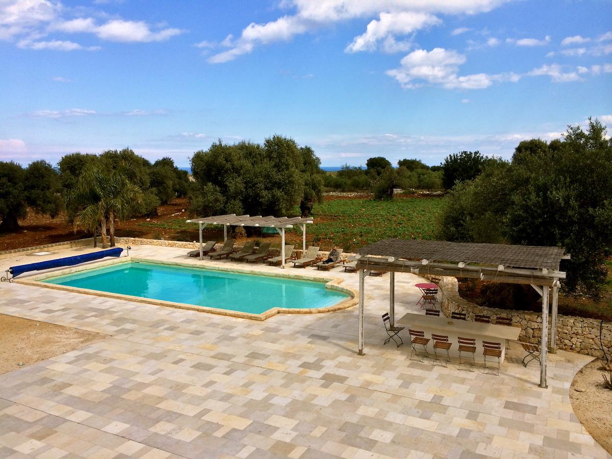 Pool and gazebos